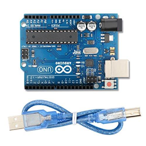 Arduino Mega UNO R3 ATmega328P Development Board with USB Cable, Compatible With Arduino UNO R3 Mega 2560 Nano Robot for Arduino IDE AVR MCU Learner K53 40 Pin Ide Flash Module