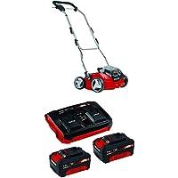 Einhell Akku Vertikutierer-Lüfter GE-SC 35/1 Li Solo Power X-Change (Lithium Ionen, 2 x 18 V, Arbeitsbreite 350 mm, ohne Akku und Ladegerät) + Twincharger PXC-Starter-Kit