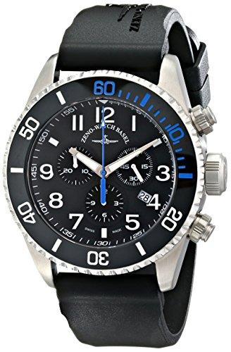 Zeno Men's 6492-5030Q-A1-4 Divers Black Rubber Strap Watch