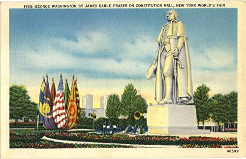 George Washington By James Earle Fraser On Constitution Mall 1939 NY World's Fair Original Vintage - Mall Manhattan