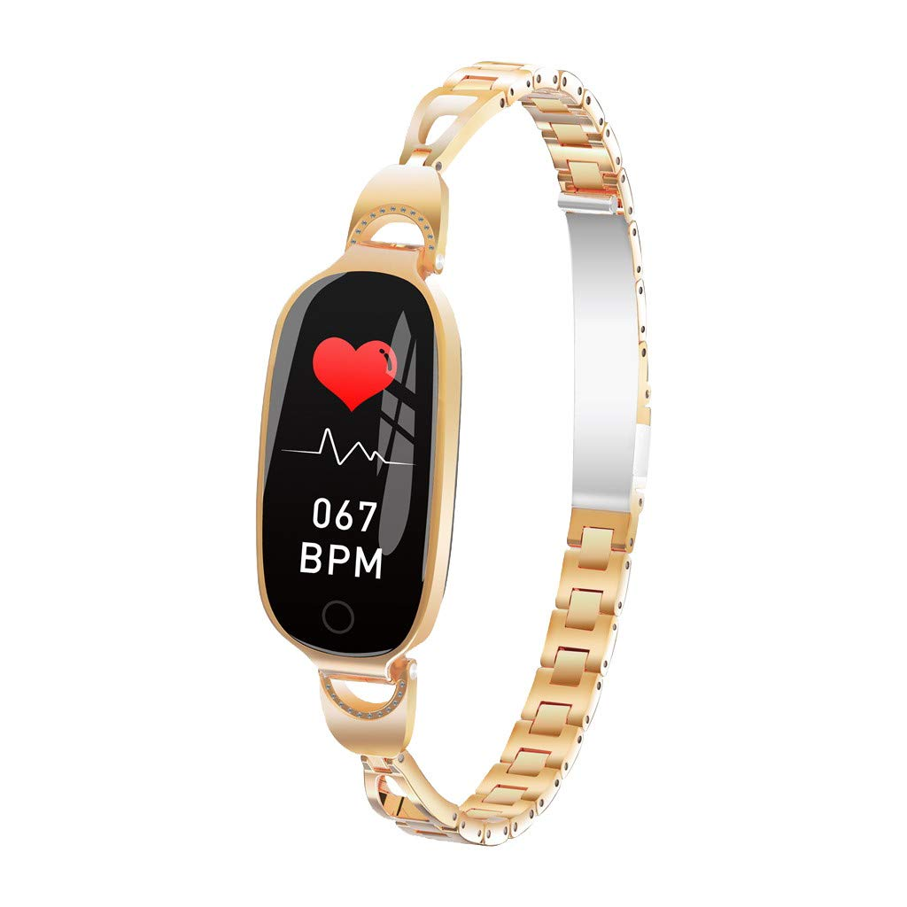 GXOK L18 Color Screen Smart Watch for Women with Blood Pressure Heart Rate Monitor Smart Watch Fitness (Gold) by GXOK