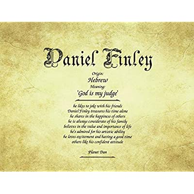 Old Parchment - Personalized ANY First Name Meaning Keepsake Print 8.5