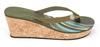 4ad1399e1e99f6 Urban Beach Womens Cork Wedge Sandals  Amazon.co.uk  Shoes   Bags