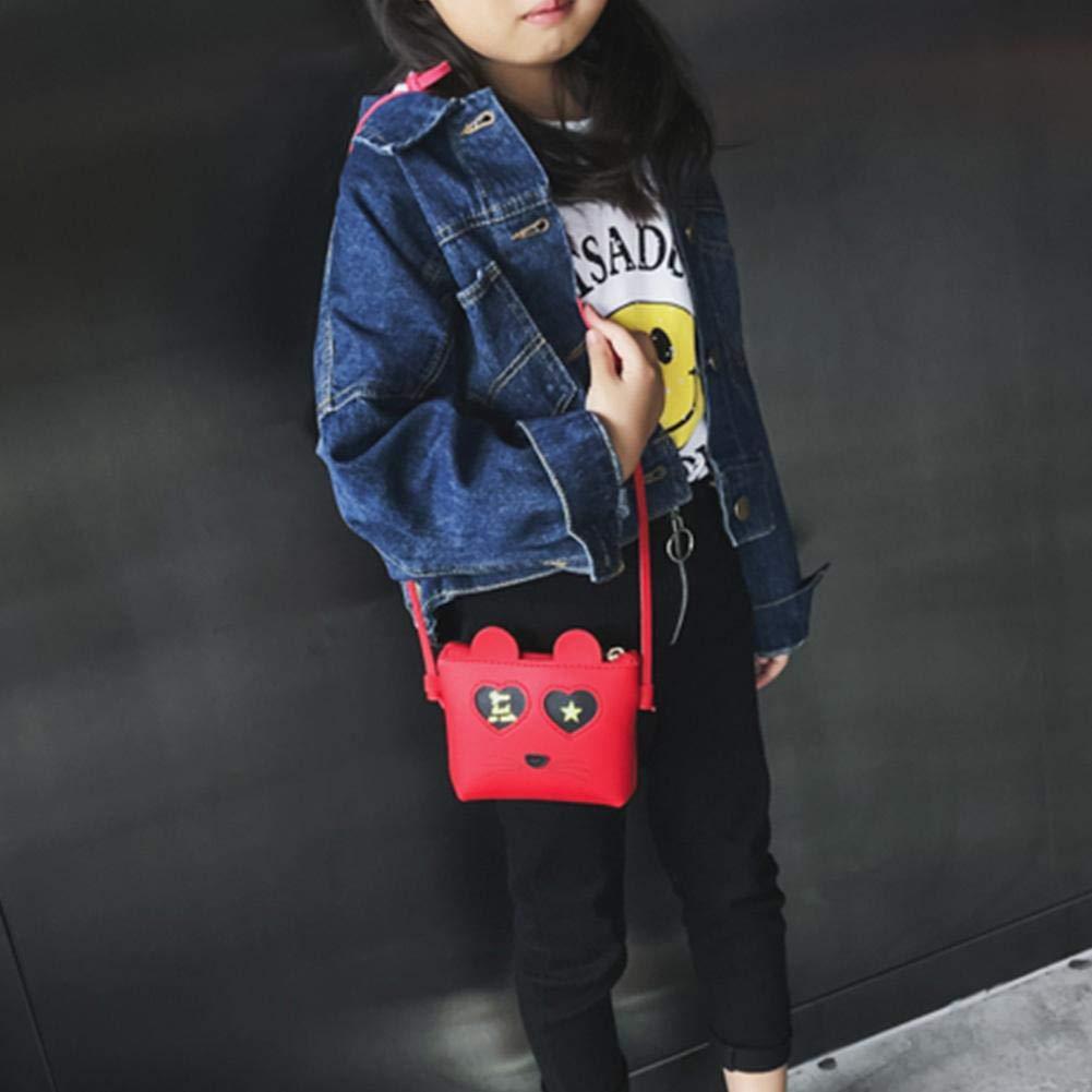 Everpert Sac Bandouli/ère B/éb/é Fille Petit Mignon Aniaml Portefeuille Monnaie Mini Sacs /à Main pour Enfants Princesse Besace Fillette 2-7 ans