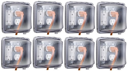 Raco Taymac MMw2410C Clear 2 gang In Use Indoor Outdoor Outlet Cover - Quantity ()