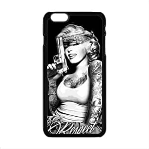 LINGH Marilyn guns Case Cover for iphone 4 4s Case