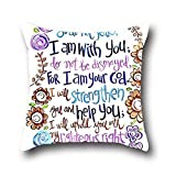Robert Beautifulcontrol Pillow Protector Case Christian Bible Verse Shell Decorative Cushion Cover Pillowcase Home Square Throw Accent 16*16
