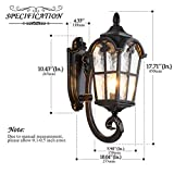 LONEDRUID Outdoor Wall Light Fixtures Black Roman