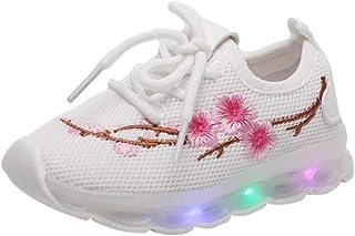 Sneakers Flash À Fleurs Brodées Enfants Toddler Chaussures Sport Maille Chaussures Antidérapantes Chaussures De Sport Respirantes