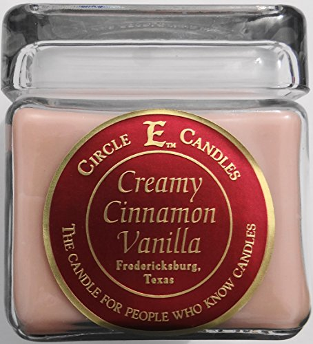 New Circle E Candle Creamy Cinnamon Vanilla 28 Oz Jar 165 Hr Burn Time ()