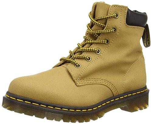 Dr. Martens Women's 939 6-Eye Hiker Boot Tan Greasy Suede/Dark Brown 5 UK