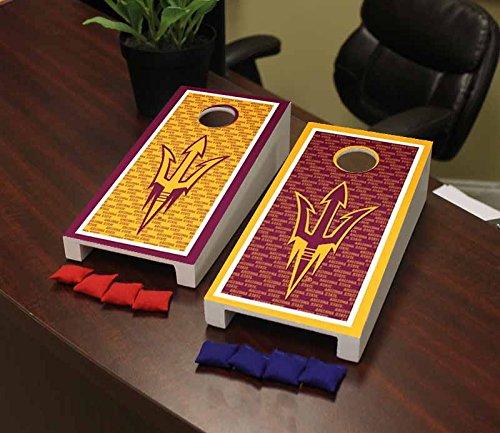 Victory Tailgate Arizona State ASU Sun Devils Desktop Cornhole Game Set Border Version 2