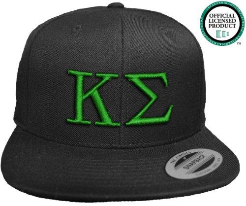 KAPPA SIGMA Flat Brim Snapback Hat Green Letters / Kappa Sig Frat | Fraternity Cap