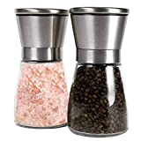 Best Mill Shakers For Salts - Cocoray 2PCS Stainless Steel Glass Manual Pepper Salt Review