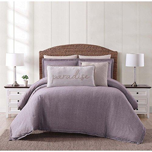 Oceanfront Resort CS2364PLFQ-1500 Full/Queen 3 Piece Comforter Set, Plum