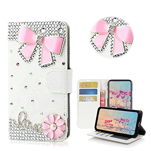 STENES Galaxy S9 Plus Case – STYLISH – 3D Handmade Bling Crystal Design Wallet Credit Card Slots Fold Media Stand Leather Cover Case for Samsung Galaxy S9 Plus – 16
