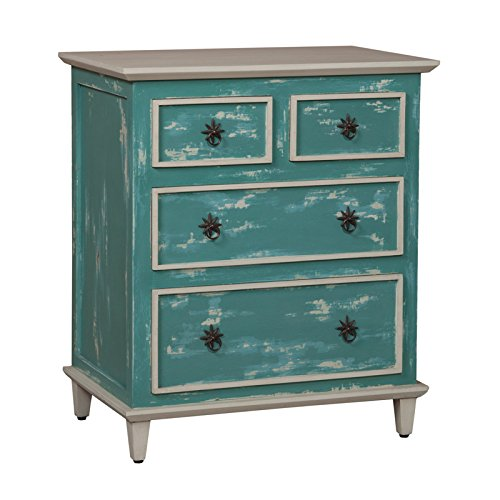 GUILD MASTER 644521 Waterfront Cottage Side Chest, Green (Waterfront Cottage)