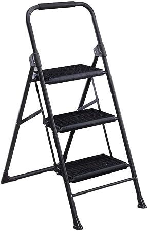 Taburetes escalera Escalera del hogar Plegables Escalera de Tres peldaños Escalera en Espiga Interior pequeña Silla de Escalera de Doble Uso: Amazon.es: Hogar