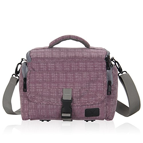 Hynes Eagle Compact Camera Shoulder Bag Shockproof Water Resistant Messenger Bag for SLR/DSLR, Thistle by Hynes Eagle