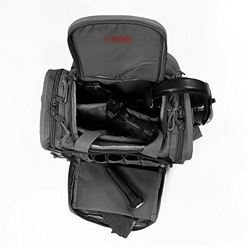 Osage River Tactical Shooting Gun Range Bag (Gunmetal Grey, Light Duty (13.5 x 10.5 x 7.5) Inches)