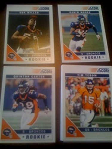 2011 Score w Rookies Traded Variations Denver Broncos Team Set Tim Tebow 11 Cards -