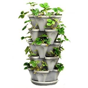 5-Tier-Stackable-Strawberry-Herb-Flower-and-Vegetable-Planter-Vertical-Garden-IndoorOutdoor