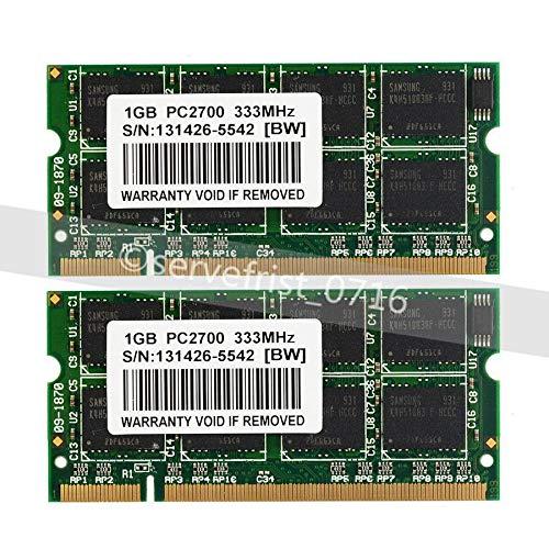 FidgetGear 2GB 2x1GB PC2700 PC2700S SODIMM DDR 333 Mhz 200pin DDR1 Sodimm Laptop Memory