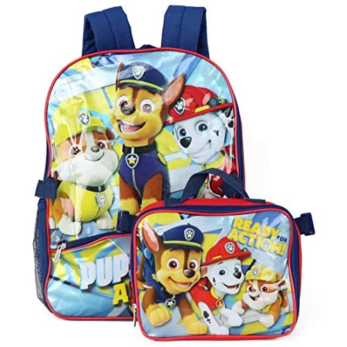 Nickelodeon Boys' Paw Patrol Backpack with Lunch, Red
