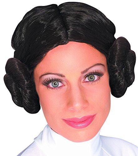 Princess Lea Buns (Star Wars Princess Leia Wig, Brown, One)