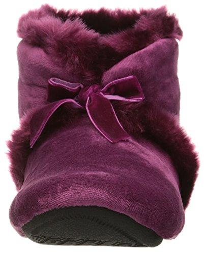 Wild Women's Slippers ISOTONER Rose Diane Bootie Velour 6wqXC