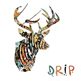 Modern Art Buck Jr. Deer Head by Cardboard Safari (Medium, Drip, Recycled)