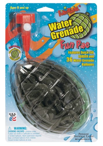 Pioneer National Latex Water Grenade Premium Water Balloon Kit by Pioneer National Latex