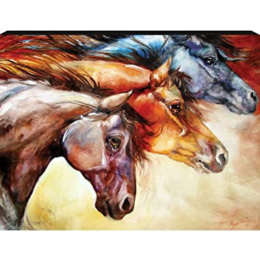 Westland Giftware Marcia Baldwin Canvas Wall Art Horses Powerful, 12-Inch by 16-Inch