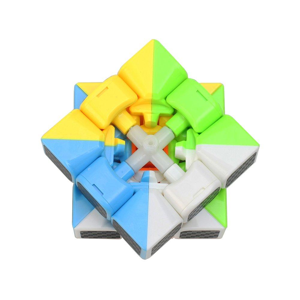 Wings of Wind Etiquetas engomadas de la fibra del carbono cubo m/ágico ultra-liso del cubo del rompecabezas Cubo colorido de la etiqueta engomada 2x2