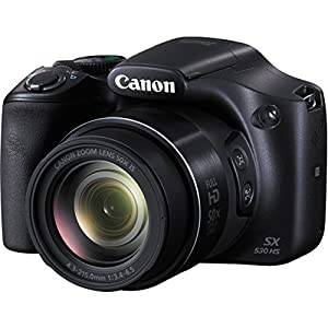 Canon PowerShot SX530 HS - Wi-Fi Enabled Digital Camera with deluxe accessory bundle including 24GB SDHC memory card lens cleaning kit + Extra Battery & AC/DC Turbo Travel Charger. by Canon