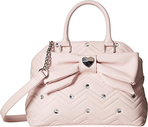 Betsey Johnson Womens Large Satchel Blush One Size