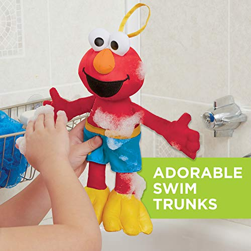Sesame Street Bath Time Elmo: Elmo Bath Time Toy for Toddlers, Cute Swim Trunks Outfit, Soft and Washable, Toy for 18 Month Olds and Up by Sesame Street (Image #3)