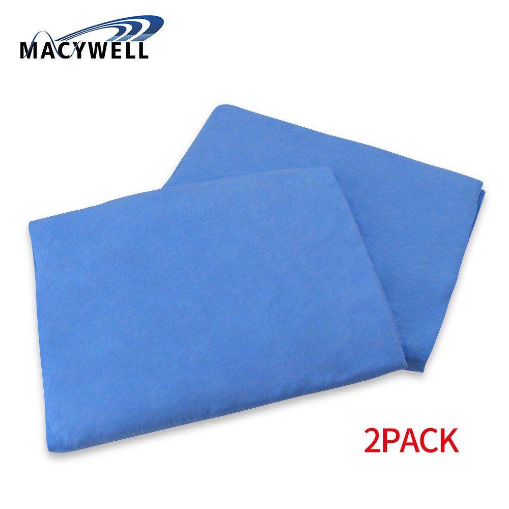 MACYWELL Microfiber Pet Towel for Dogs Cats bluee