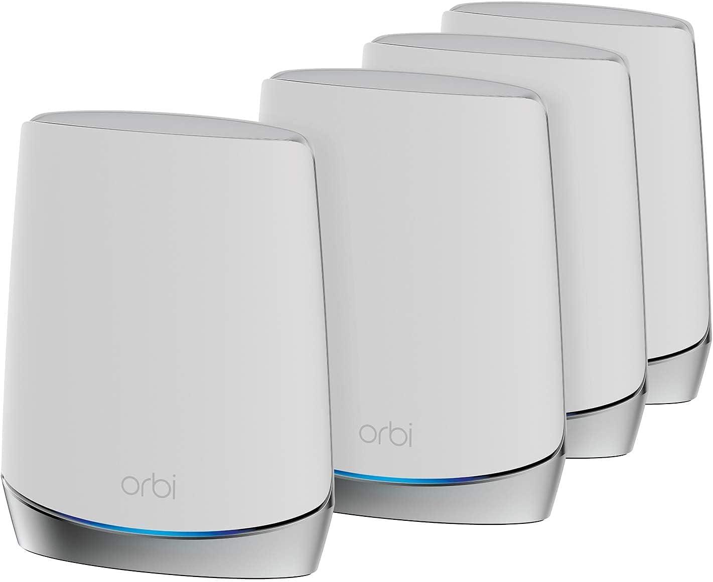 NETGEAR Système WiFi 6 Mesh Tri Bandes Orbi (RBK754), Pack de 4,...