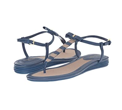 Womens Analyn Sandal Deep Lake/Cremini Canvas Sandal 7 B (M) Cole Haan qmzC0r6UMP