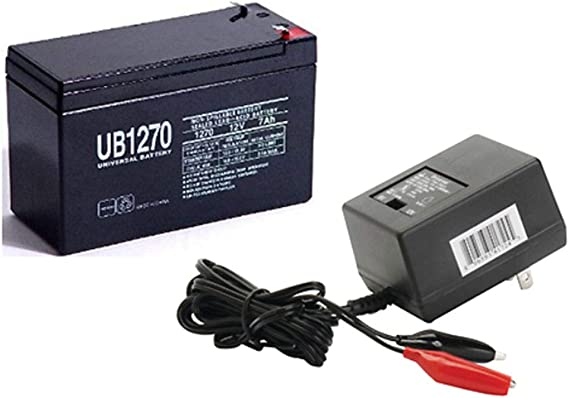 Universal Power Group 12V 7AH Replcement Battery for Piranha MAX 160 Fish Finder with Charger