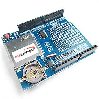 HiLetgo Data Logger Module Logging Shield Data Recorder Shield for Arduino UNO w/SD Card