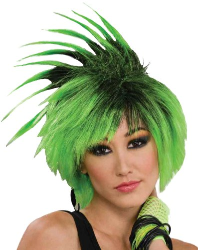 [Forum Novelties St. Patrick's Day Costume Wig, Twist O'Lime Green, One Size] (Lime Green Wigs)