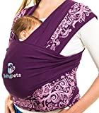 Keep Your Infant Calm & Stay Hands Free - Stylish Baby Carrier Sling/Baby Wrap - Ideal for Breastfeeding & Aids Balance - Perfect Baby Shower Gift Under 35£