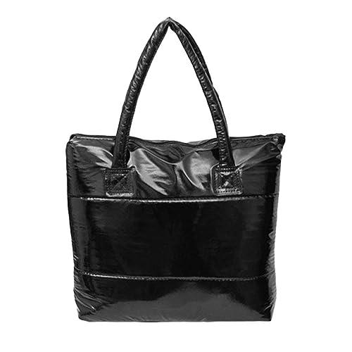 Bolsa de espacio para bolsas de mujer Bolsos de hombro de esponja Bolsas de mano para mujer con bolsillos acolchados de algodón de gran capacidad