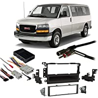 Fits GMC Savana Full Size Van 03-07 Single DIN Harness Radio Install Dash Kit