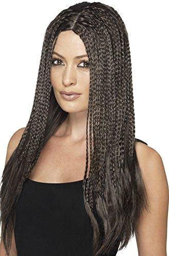 Smiffy's Women's 90's Brown Braid Wig, One Size, 45610 (Braids Costume Wig)