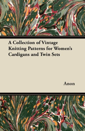 Twin Set Knitting Pattern - A Collection of Vintage Knitting Patterns for Women's Cardigans and Twin Sets