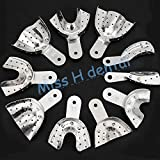 10pcs/set Autoclavable Dental Products Aluminium alloy Impression Tray Dental Instrument