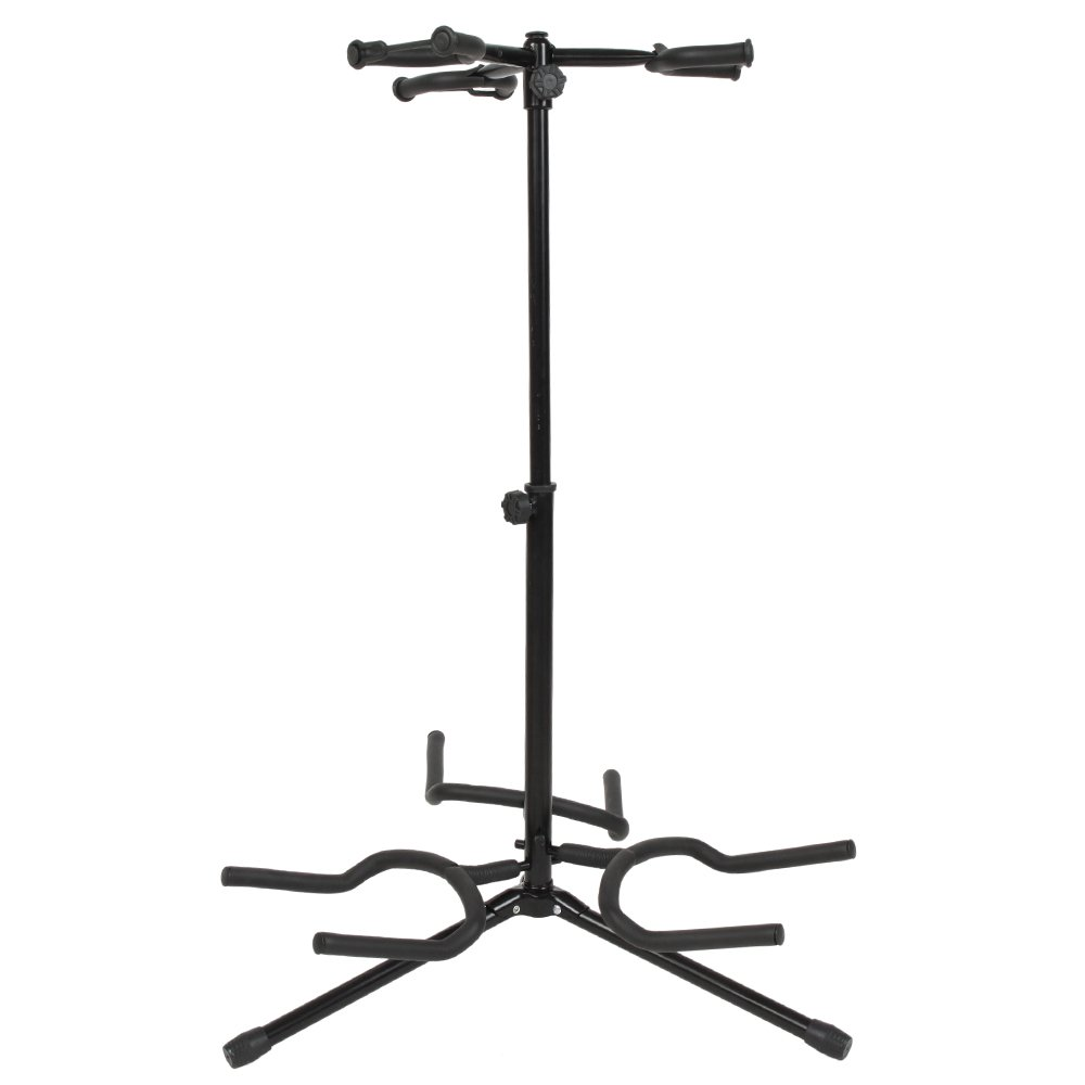 Triple Guitar Stand Vertical Style Alloy Guitar Stand for Acoustic Guitar, Classic Guitar, Electric Guitar Holder Black